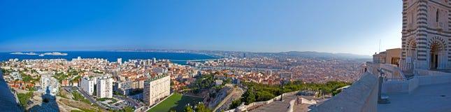 Panoramautsikt av Marseille - Frankrike fotografering för bildbyråer