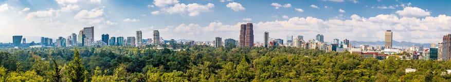 Panoramautsikt av Mexico - stad - Mexico Arkivbilder