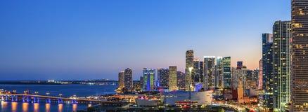 Panoramautsikt av Miami Arkivbild