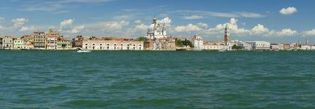 Panoramautsikt av mitten av Venedig Arkivbild