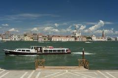 Panoramautsikt av mitten av Venedig Arkivfoto