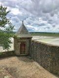 Panoramautsikt av Mont Saint Michele, Normandie, Frankrike Royaltyfri Foto