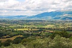 Panoramautsikt av Montefalco. Umbria. Italien. Royaltyfria Foton