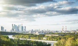 Panoramautsikt av Moskvastaden Royaltyfria Bilder