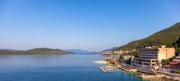 Panoramautsikt av Neum Arkivbild