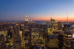 Panoramautsikt av New York Royaltyfri Fotografi