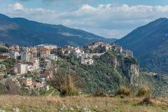 Panoramautsikt av Norma, Latina landskap, Lazio, Italien Fotografering för Bildbyråer