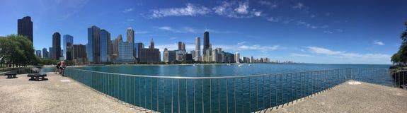 Panoramautsikt av norr Chicago Arkivbild