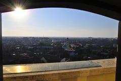 Panoramautsikt av Oradea Arkivbilder