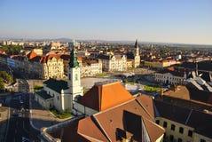 Panoramautsikt av Oradea Arkivbild
