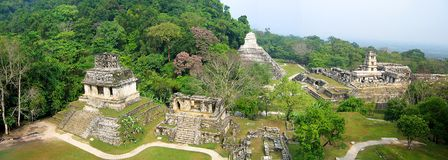 Panoramautsikt av Palenque royaltyfria bilder