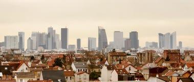 Panoramautsikt av Paris laförsvar Fotografering för Bildbyråer