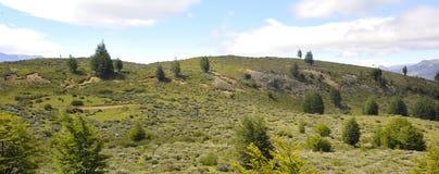 Panoramautsikt av Patagoniakullar Royaltyfri Bild