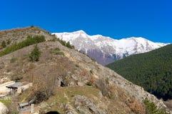 Panoramautsikt av Pizzo Cefalone, Abruzzo, Italien Royaltyfri Foto