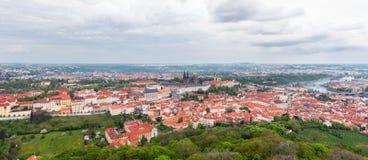 Panoramautsikt av Prague Royaltyfri Foto