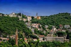 Panoramautsikt av Rijeka, Kroatien Arkivbilder