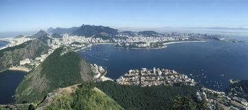 Panoramautsikt av Rio de Janeiro, Brasilien Arkivfoton