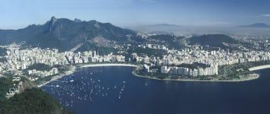 Panoramautsikt av Rio de Janeiro, Brasilien Royaltyfri Bild