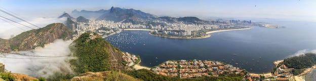 Panoramautsikt av Rio de Janeiro från Sugarloafen, Rio de Janeiro, Brasilien Royaltyfri Fotografi