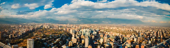 Panoramautsikt av Santiago Royaltyfria Foton