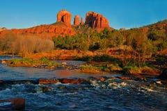 Panoramautsikt av Sedona Arizona Arkivfoto