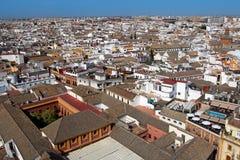 Panoramautsikt av Seville, Spanien arkivfoton