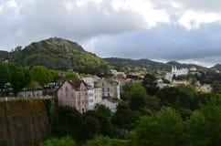 Panoramautsikt av Sintra Royaltyfria Bilder