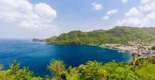 Panoramautsikt av St Lucia arkivbilder