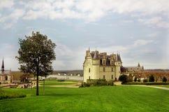 Panoramautsikt av staden av Amboise Fotografering för Bildbyråer