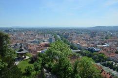 Panoramautsikt av staden av Graz, Österrike Royaltyfri Foto