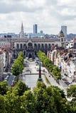 Panoramautsikt av staden av Bryssel Royaltyfria Bilder