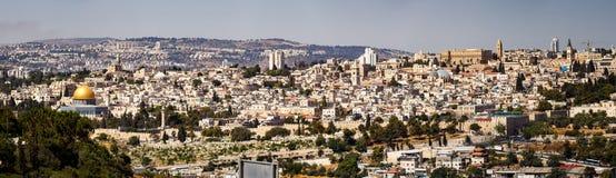 Panoramautsikt av staden av Jerusalem, Israel Royaltyfria Bilder