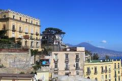 Panoramautsikt av staden av Napoli, Italien Royaltyfri Fotografi
