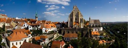 Panoramautsikt av staden Znojmo Morava Royaltyfria Foton