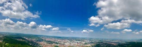 Panoramautsikt av Stuttgart, Tyskland Arkivfoto