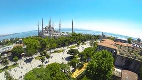 Panoramautsikt av Sultanahmet Arkivfoto