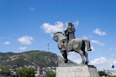 Panoramautsikt av Tbilisi, Georgia Arkivbild