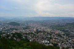 Panoramautsikt av Tegucigalpa, Honduras Royaltyfri Fotografi