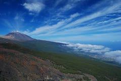 Panoramautsikt av Teide royaltyfria bilder