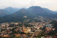 Panoramautsikt av Teresopolis, Brasilien royaltyfri fotografi