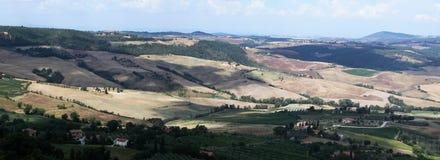 Panoramautsikt av Tuscany royaltyfri foto