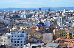 Panoramautsikt av Valencia, Spanien Royaltyfri Fotografi