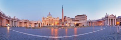 Panoramautsikt av Vatican City, Rome Arkivbild