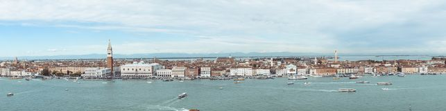 Panoramautsikt av Venedig, Italien Royaltyfria Foton