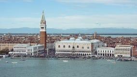 Panoramautsikt av Venedig, Italien Fotografering för Bildbyråer