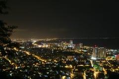 Panoramautsikt av Vung Tau från en hög poäng av sikten fotografering för bildbyråer