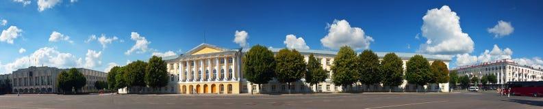 Panoramautsikt av Yaroslavl royaltyfri fotografi
