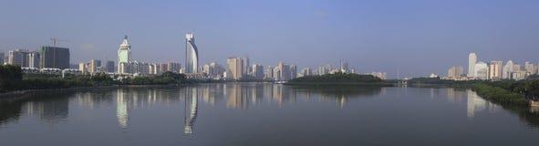 Panoramautsikt av yuandangsjön Arkivfoton