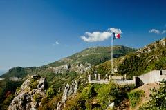 Panoramautsikt Cote d'Azur, Frankrike royaltyfria bilder