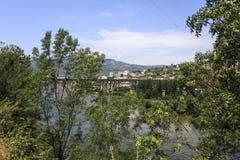 """Panoramautsikt för Douro flod†""""över Regua royaltyfri fotografi"""
